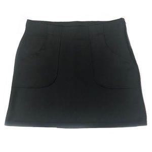 ATHLETA Black Scuba Fleece Lined Sport Skirt L